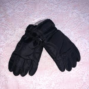 NWT- Men's insulated black gloves